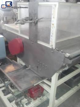 Chocolate enrobing machine for 800 mm