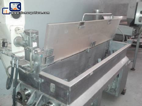 Set of double mixer in stainless steel
