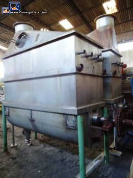 Industrial stainless steel horizontal mixer