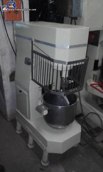 Industrial mixer with fixed pot for approximately 20 litres