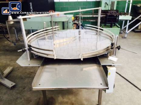 Rotating rotary table in stainless steel 1,20 m