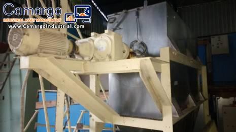 Mezclador de la paleta 1500 L acero inoxidable