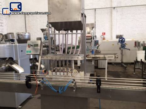 Automatic filling machine 6 gravity