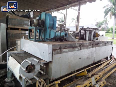 Conveyor oven with direct flame