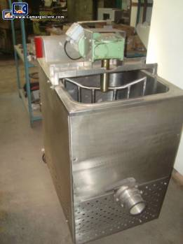 Pasteurizer for Pasty products in stainless steel