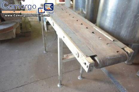 Conveyor with 1.50 m long and 200 mm wide Haas