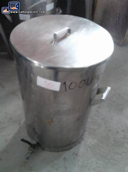 Stainless steel tank for 100 L