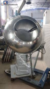 Coater of remedies with bulge in stainless steel 150 L