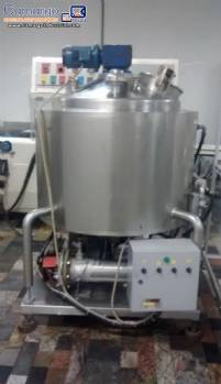 Stainless steel chocolate tank