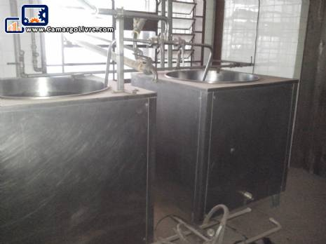 Ripening pasteurizing system for ice creams