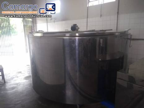 Stainless steel tank for cooling milk 4,000 L Acqua Gelata