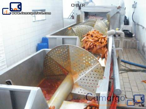 Complete line for the production of sausages among other