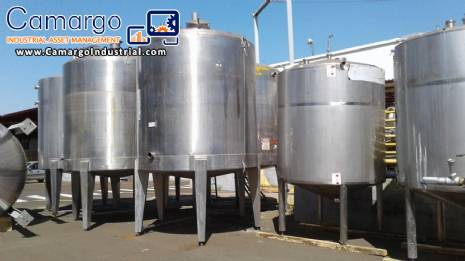 316 stainless steel industrial tank 10.000 L