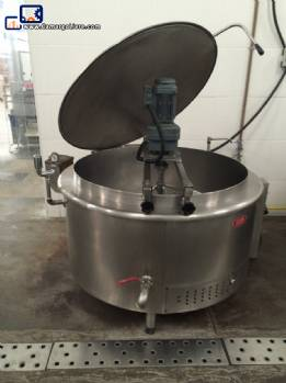 2 industrial Cauldron (or steam autogerador) 1000 gas in stainless steel 304